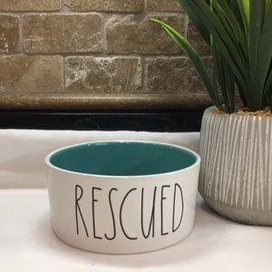 New Rae Dunn Medium RESCUED Pet Bowl